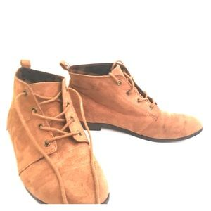 Brown Booties by Forever 21